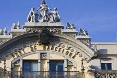 Detalhe portuário do edifício de Barcelona Fotografia de Stock Royalty Free