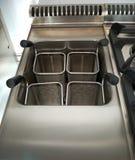 Detalhe profissional da cozinha: fogão da massa Fotos de Stock