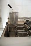 Detalhe profissional da cozinha: fogão da massa Fotos de Stock Royalty Free