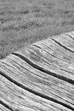 Detalhe quebrado do banco de madeira Fotos de Stock Royalty Free