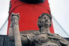 Detalhe Rostral da coluna, St Petersburg, Rússia Imagem de Stock Royalty Free