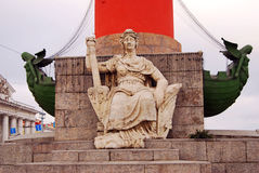 Detalhe Rostral da coluna, St Petersburg, Rússia Imagens de Stock Royalty Free