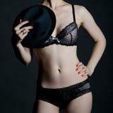 Detalhe sensual do corpo de uma mulher Imagens de Stock