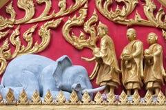 Detalhe tailandês 01 do templo Foto de Stock Royalty Free