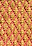Detalhe tailandês da construção do templo Imagens de Stock Royalty Free