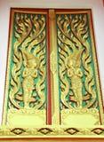 Detalhe tailandês da janela do templo Foto de Stock