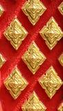 Detalhe tailandês da parede do templo Imagens de Stock Royalty Free