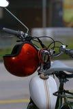 Detalhe velho da bicicleta motorizada Fotos de Stock