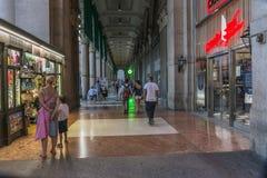 Detalhe velho da construção, Milão imagens de stock royalty free