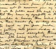 Detalhe velho da escrita da letra Imagem de Stock