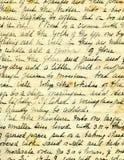 Detalhe velho da escrita da receita Fotos de Stock