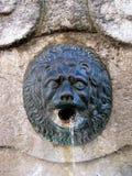 Detalhe velho da fonte. Toscânia. Fotografia de Stock