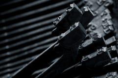 Detalhe velho da máquina de escrever Foto de Stock Royalty Free
