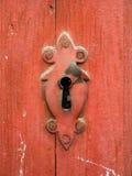 Detalhe velho da porta Foto de Stock