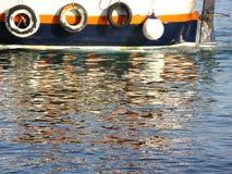 Detalhe velho do barco Imagens de Stock