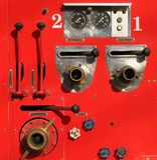 Detalhe velho do carro de bombeiros Foto de Stock Royalty Free