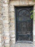 Detalhe velho do castelo de rainha Maria em Balchik, Bulgária Imagem de Stock
