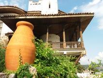 Detalhe velho do castelo de rainha Maria em Balchik, Bulgária Fotos de Stock