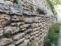 Detalhe velho do castelo de rainha Maria em Balchik, Bulgária Foto de Stock Royalty Free