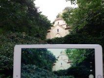Detalhe velho do castelo de rainha Maria em Balchik, Bulgária Foto de Stock