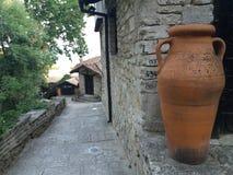 Detalhe velho do castelo de rainha Maria em Balchik, Bulgária Fotografia de Stock