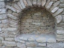 Detalhe velho do castelo de rainha Maria em Balchik, Bulgária Imagem de Stock Royalty Free