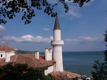 Detalhe velho do castelo de rainha Maria em Balchik, Bulgária Imagens de Stock Royalty Free