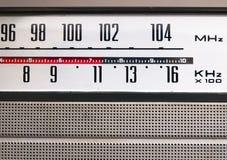 Detalhe velho do rádio do vintage foto de stock