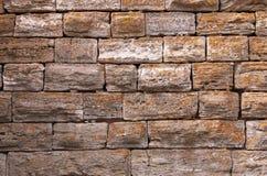 Detalhe velho Nessebar da parede de pedra Imagens de Stock