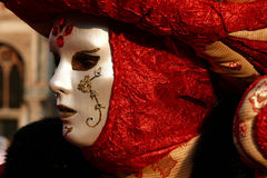 Detalhe Venetian da máscara do carnaval Fotografia de Stock