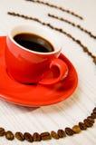 Detalhe vermelho do café do café imagem de stock