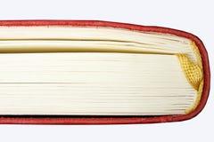 Detalhe vermelho do livro Foto de Stock