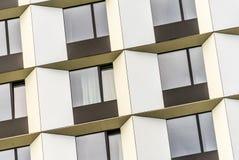Detalhe a vista da fachada da feira interurbana de Hamburgo Dammtor do hotel em CCH fotografia de stock