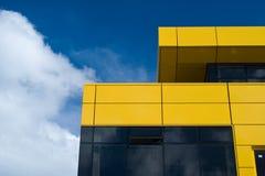 Detalhes amarelos do edifício Fotografia de Stock Royalty Free