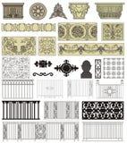 Detalhes arquitectónicos ilustração stock