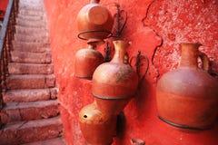 Detalhes arquitectónicos coloridos, Arequipa Peru. Imagem de Stock
