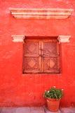 Detalhes arquitectónicos coloridos, Arequipa Peru. Fotos de Stock