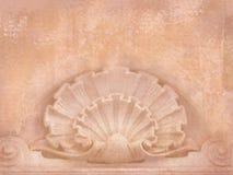 Detalhes arquitectónicos Placa para insetos, mensagens, cartões, cartazes, etc. no estilo chique gasto Figuras do art deco cinzel Imagem de Stock Royalty Free