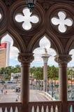 Detalhes arquitetónicos bonitos inspirados por Veneza Fotografia de Stock