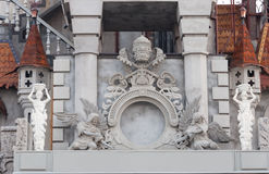 Detalhes arquitetónicos da fachada da construção Imagem de Stock Royalty Free