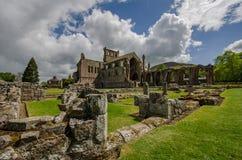 Detalhes arquitetónicos de abadia da melrose foto de stock royalty free