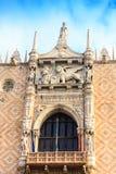 Detalhes arquitetónicos do palácio do ` s do doge imagem de stock