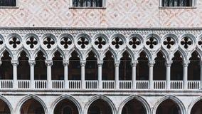 Detalhes arquitetónicos do palácio do ` s do doge, em Veneza, Itália foto de stock royalty free