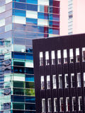 Detalhes arquitetónicos em cais de Salford, Inglaterra Fotografia de Stock