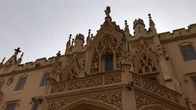 Detalhes arquitetónicos, gárgula do castelo de Lednice, Czechia filme