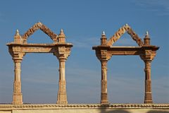 Detalhes arquitetónicos, Udaipur, Rajasthan, Índia foto de stock royalty free