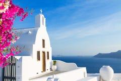 Detalhes bonitos de ilha de Santorini, Grécia Imagens de Stock