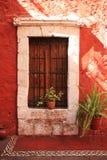 Detalhes coloridos da arquitetura, Cuzco, Peru. Imagem de Stock Royalty Free
