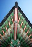 Detalhes coreanos tradicionais do pavilhão Fotos de Stock Royalty Free