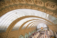 Detalhes d'Orsay do arco de Musee/museu Pari Fotos de Stock Royalty Free